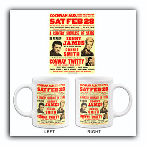 Sonny James - Conway Twitty - 1970 - Concert Mug