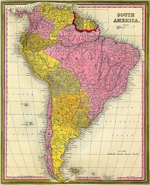 South America - 1846 - Map Poster