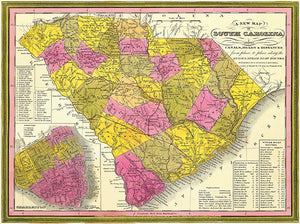 South Carolina - 1846 - Map Poster