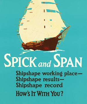 Spick And Span - 1929 - Work Motivational Poster