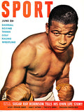 Sport Magazine - June 1951 - Sugar Ray Robinson - Magazine Cover Poster