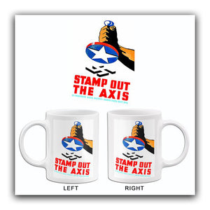 Stamp Out The Axis - 1941 - World War II - Propaganda Mug
