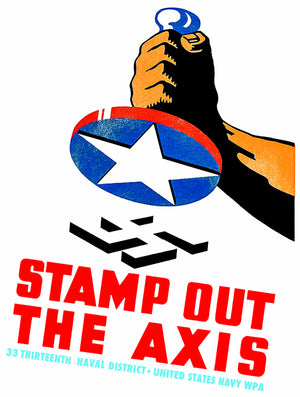 Stamp Out The Axis - 1941 - World War II - Propaganda Magnet