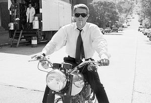 Steve McQueen - Triumph Motorcycle - Bullitt Set - Photo Poster