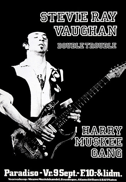Stevie Ray Vaughan - 1983 - Paradiso Amsterdam - Concert Poster