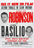 Sugar Ray Robinson vs Carmen Basilio - 1958 - Fight Movie Poster
