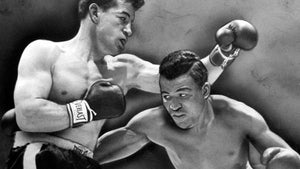Sugar Ray Robinson vs Rocky Graziano - 1952 - Chicago Stadium - Photo Mug