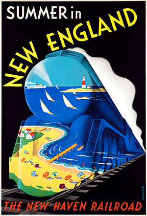 Summer In New England - New Haven Railroad - 1930's - Travel Poster Mug