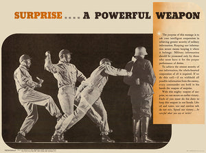 Surprise A Powerful Weapon - 1943 - World War II - Propaganda Magnet
