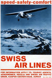 Swiss Air Lines - 1930 - Promotional Advertising Magnet