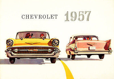 1957 Chevrolet Bel Air - Promotional Advertising Poster