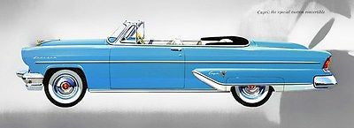 1955 Lincoln Capri Convertible - Promotional Advertising Poster