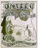 Traffic  - Mountain - Mott the Hoople 1971 -  Hofheinz Pavillion Concert Poster