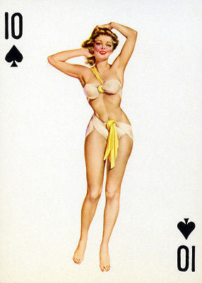 10 of Spades - 1950's - Pin up Poster