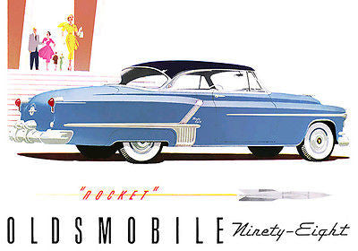 1952 Oldsmobile 98 Holiday Coupe - Promotional Advertising Poster