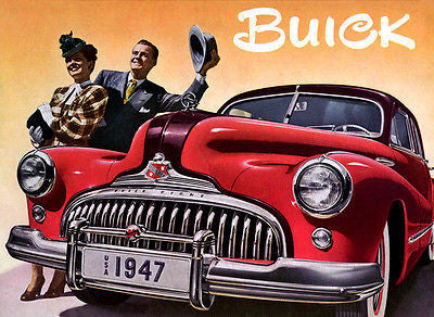 1947 Buick - Promotional Advertising Poster