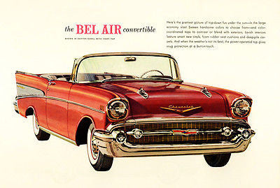 1957 Chevrolet Bel Air Convertible - Promotional Advertising Poster
