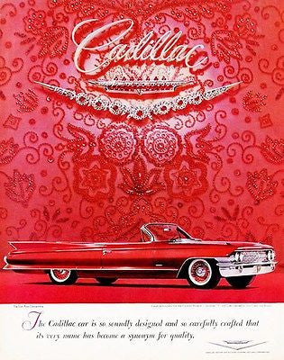 1961 Cadillac - Promotional Advertising Poster