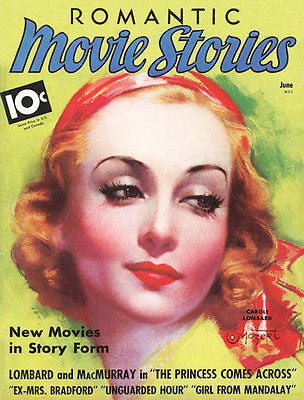Romantic Movie Stories - 1936 - Magazine Cover Poster