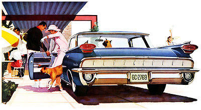 1959 Oldsmobile 98 Holiday Sport Sedan - Promotional Advertising Poster