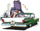 1957 Ford Fairlane - Promotional Advertising Poster