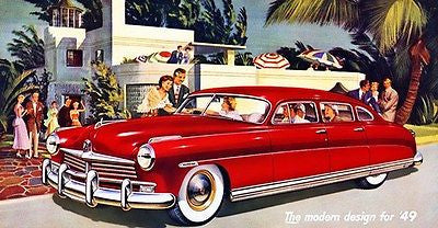 1949 Hudson Custom Commodore Sedan - Promotional Advertising Poster