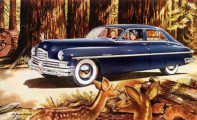 1949 Golden Anniversary Packard Super - Promotional Advertising Poster