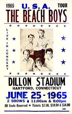 The Beach Boys - 1965 - Concert Poster