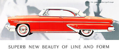 1955 Lincoln Capri Sport Coupe - Promotional Advertising Poster
