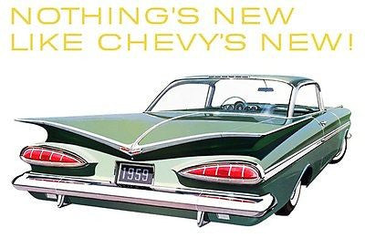 1959 Chevrolet Impala Sport Coupe - Promotional Advertising Poster