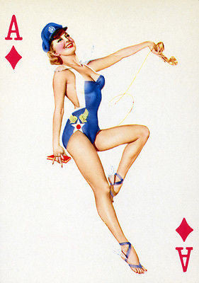 Ace of Diamonds - 1950's - Pin up Poster