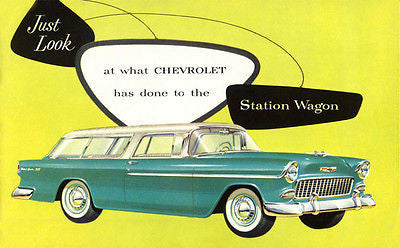 1955 Chevrolet Bel Air Nomad Station Wagon - Promotional Advertising Poster