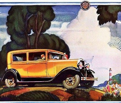 1929 Oldsmobile - Promotional Advertising Poster