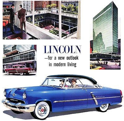 1952 Lincoln Cosmopolitan - Promotional Advertising Poster