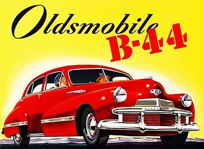1942 Oldsmobile B-44 - Promotional Advertising Poster