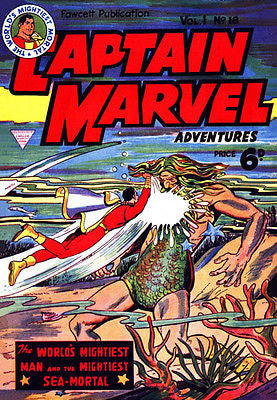 Captain Marvel Adventures #18 - December 1942 - Comic Book Cover Poster