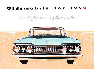"1959 Oldsmobile ""Start of a New Styling Cycle"" - Promotional Advertising Poster"