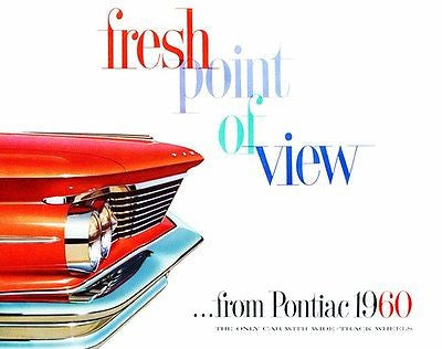 1960 Pontiac - Fresh Point of View - Promotional Advertising Poster