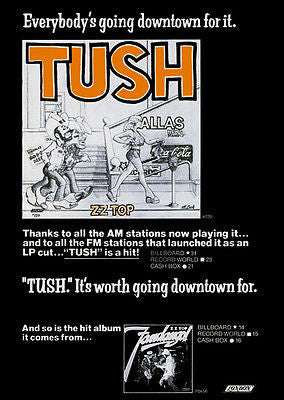 ZZ Top - Tush - 1975 - Single Release Promo Poster