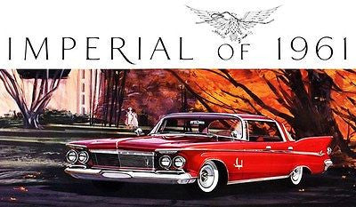 1961 Chrysler Imperial Crown Southampton - Promotional Advertising Poster
