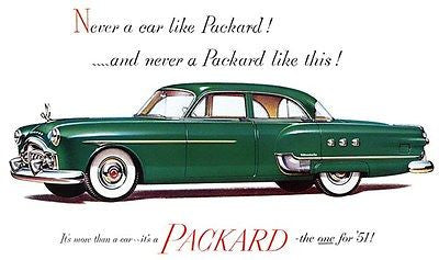 1951 Packard Patrician - Promotional Advertising Poster