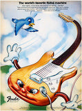 Fender The World's Favorite Flying Machine Stratocaster 1973 - Advertising Poster