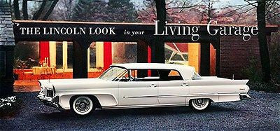 1958 Lincoln Premiere Four-Door Landau - Promotional Advertising Poster