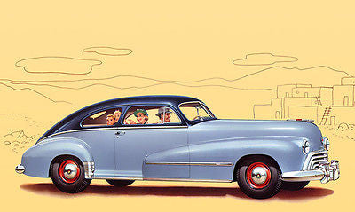1948 Oldsmobile Dynamic Series 60 Club Sedan - Promotional Advertising Poster
