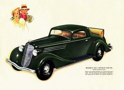 1935 Buick Model 46S Sport Coupe - Promotional Advertising Poster