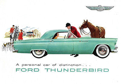 1955 Ford Thunderbird - Promotional Advertising Poster