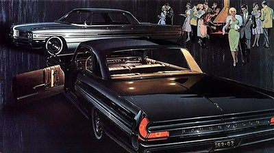 1962 Pontiac Bonneville Sports Coupe & Vista - Promotional Advertising Poster