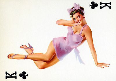 King of Clubs - 1950's - Pin up Poster