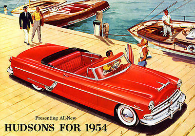 1954 Hudson Hornet Convertible Brougham - Promotional Advertising Poster