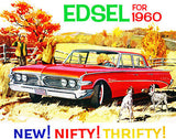 "1960 Ford Edsel ""New! Nifty! Thrifty!"" - Promotional Advertising Poster"
